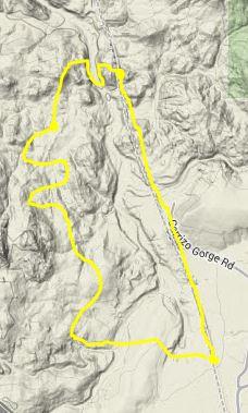 Terrain Path of Our Hike